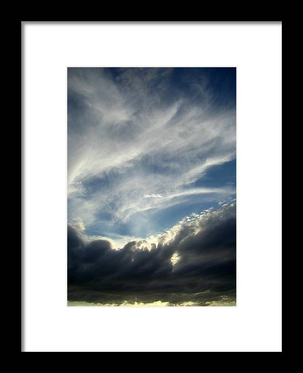 Clouds Framed Print featuring the photograph Clouds One by Ana Villaronga
