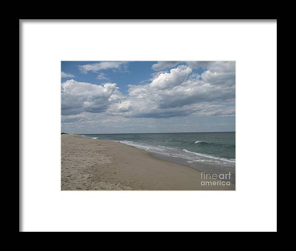 Clouds Framed Print featuring the photograph Clouds Over The Sea by Christiane Schulze Art And Photography