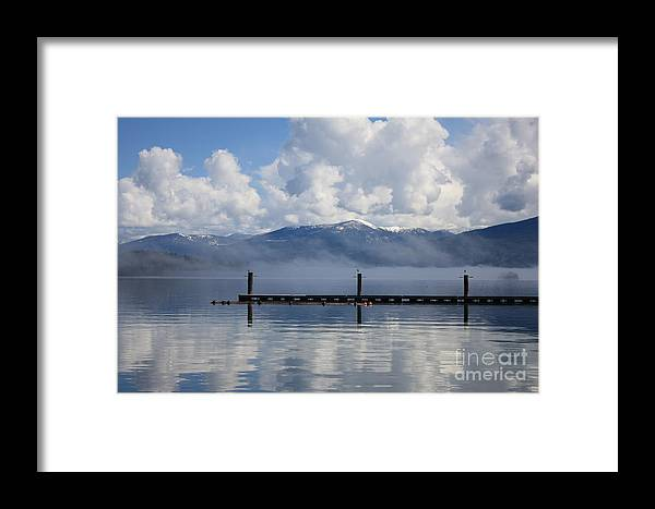 Priest Lake Framed Print featuring the photograph Clouds Reflecting Off Priest Lake by Carol Groenen