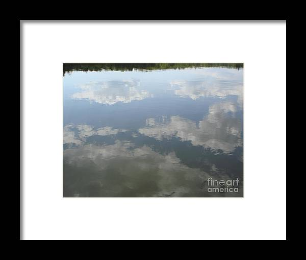 Sky Framed Print featuring the photograph Clouds Reflection by PJ Cloud