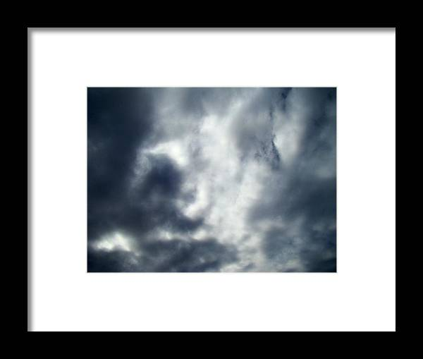 Skyscape Framed Print featuring the photograph Clouds Seven by Ana Villaronga