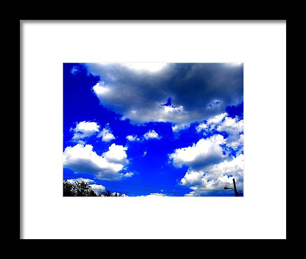 Photograp Prints Framed Print featuring the photograph Clouds Study 1 by Teo Santa