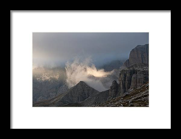 Montagna Framed Print featuring the photograph Clouds Sunset by Marco Missiaja