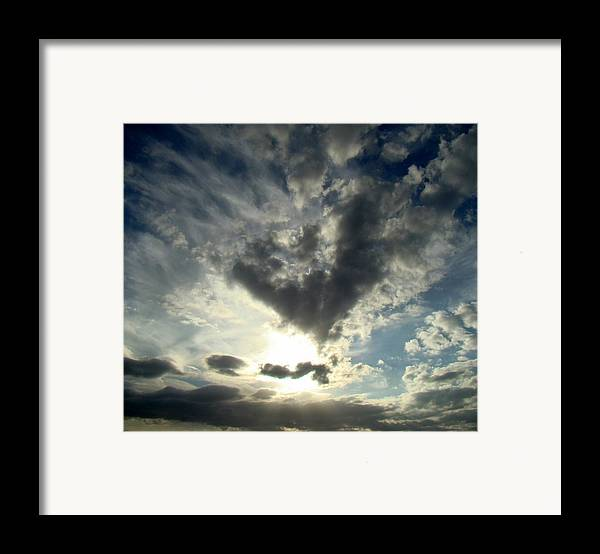 Clouds Framed Print featuring the photograph Clouds Two by Ana Villaronga