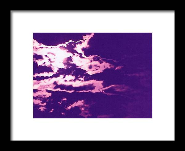 Moon Framed Print featuring the photograph Cloudscape II by Curtis Schauer