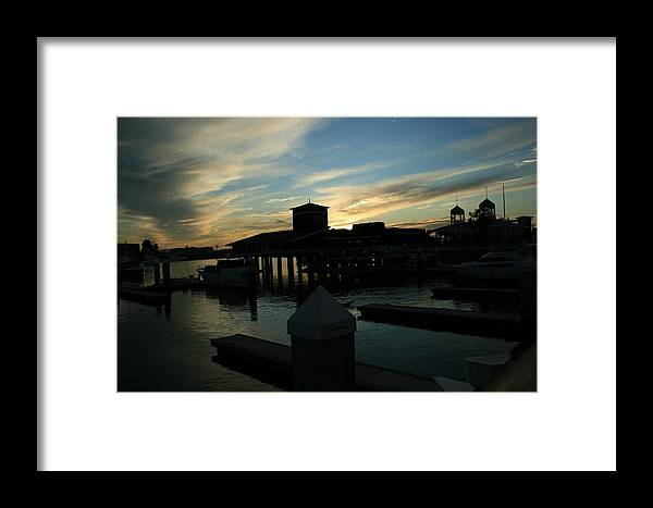 Clouds Framed Print featuring the photograph Cloudy Docks by Joshua Sunday