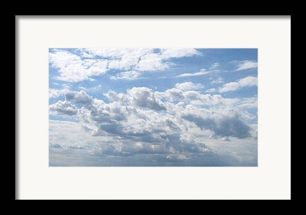 Clouds Framed Print featuring the photograph Cloudy by Rhonda Barrett