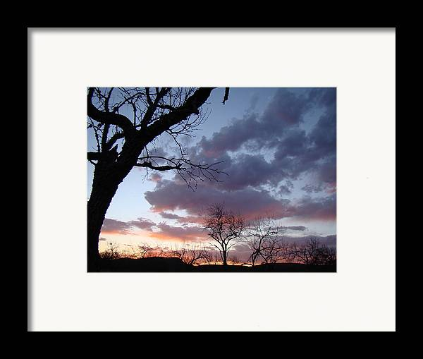 Sunset Framed Print featuring the photograph Cloudy Sunset One by Ana Villaronga