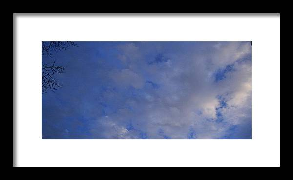 Clouds Framed Print featuring the photograph Cloudy Twigs by Joshua Sunday