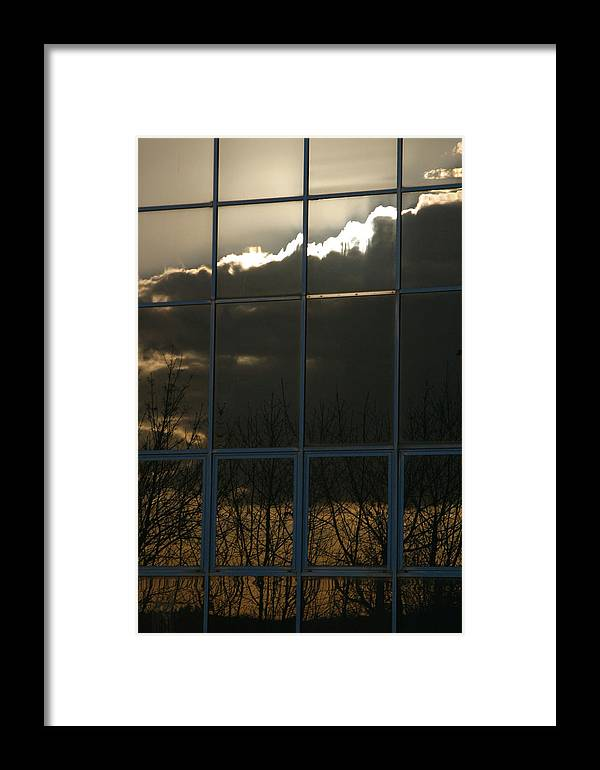 Jez C Self Framed Print featuring the photograph Cloudy Windows by Jez C Self