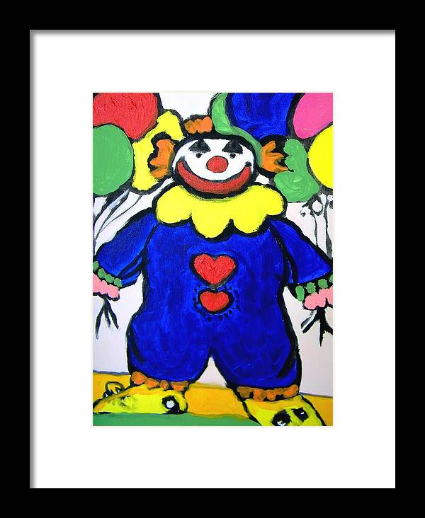 Clown Framed Print featuring the painting Clown For Jack by Judith Redman