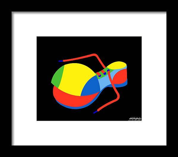 Clown Framed Print featuring the digital art Clown Shoe by Asbjorn Lonvig