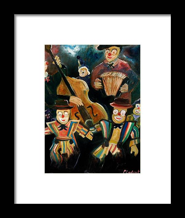 Clowns Circus Framed Print featuring the print Clowns by Pol Ledent