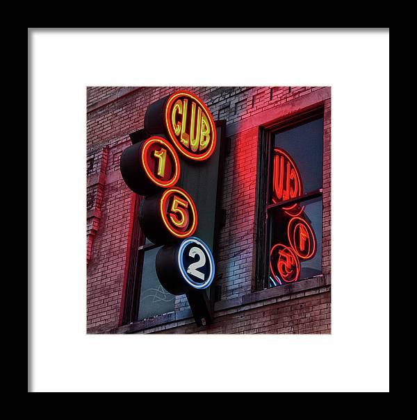 Neon. Bar Framed Print featuring the photograph Club 152, Memphis by John Nelson