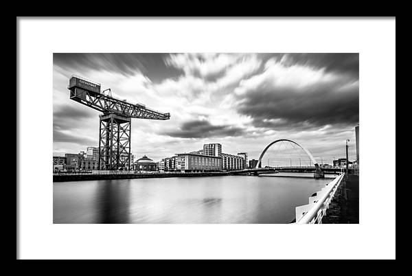 Clyde arch, Glasgow, Scotland - Black and white cityscape photography by Giuseppe Milo