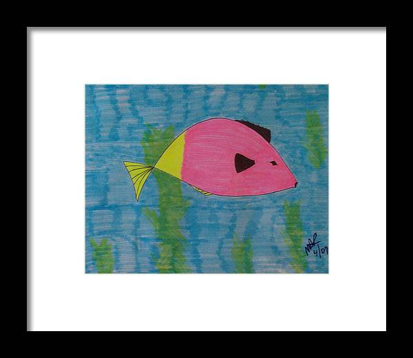 Seascape Framed Print featuring the drawing Clyde by Nicholas A Roes