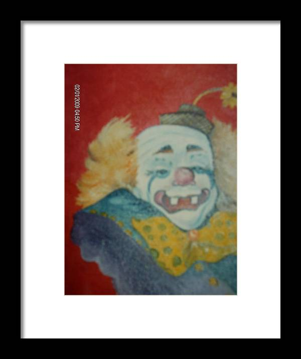 Clown Framed Print featuring the painting Clyde by Terry Lash