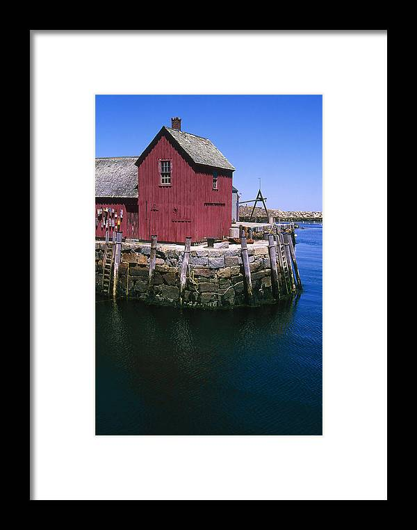 Landscape New England Rockport Motif Number 1 Framed Print featuring the photograph Cnrf0506 by Henry Butz