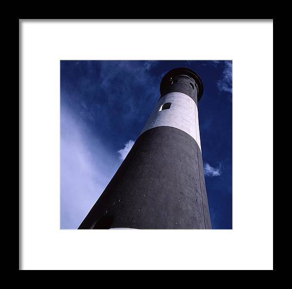 Landscape Lighthouse Fire Island Framed Print featuring the photograph Cnrf0701 by Henry Butz