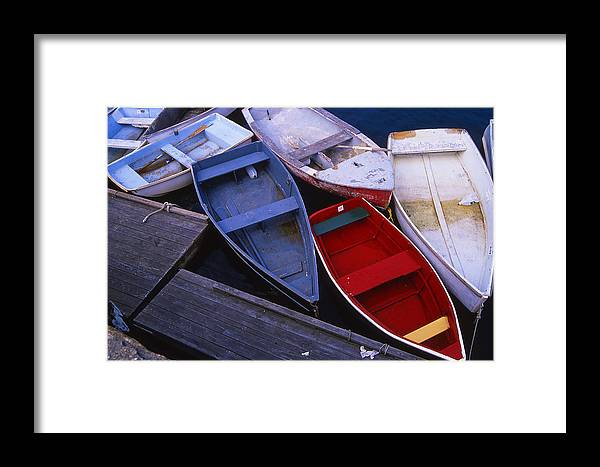 Landscape New England Boat Fishing Nautical Coast Framed Print featuring the photograph Cnrf0906 by Henry Butz