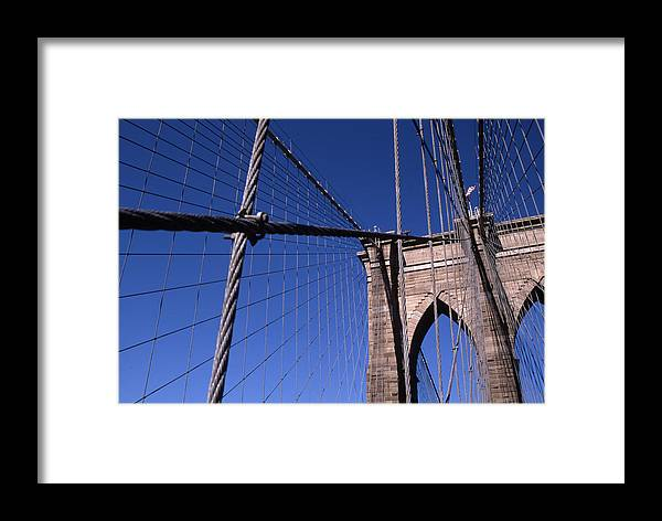 Landscape Brooklyn Bridge New York City Framed Print featuring the photograph Cnrg0405 by Henry Butz