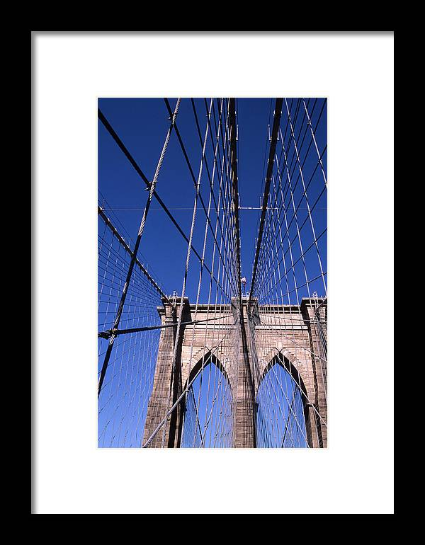 Landscape Brooklyn Bridge New York City Framed Print featuring the photograph Cnrg0407 by Henry Butz