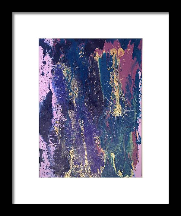 Framed Print featuring the painting Coal And Gold by Qiuna Jiang