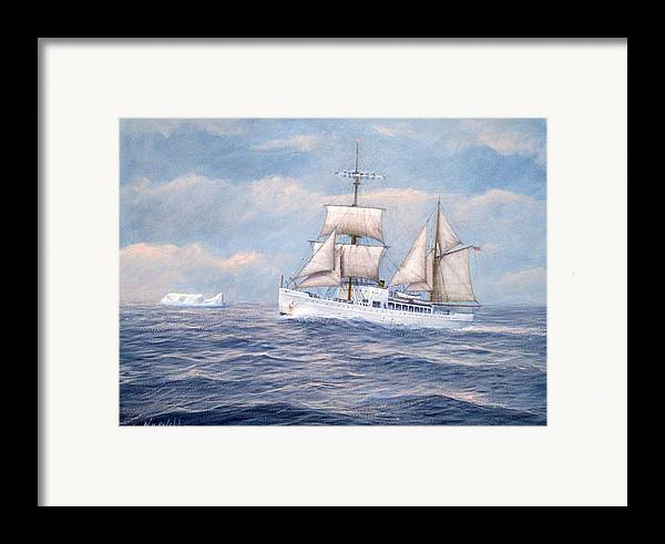 Coast Guard Framed Print featuring the painting Coast Guard Cutter Northland by William H RaVell III