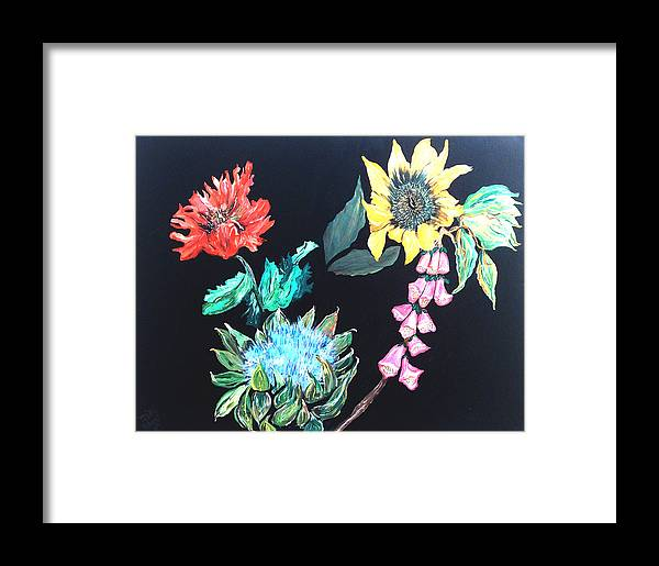 Flowers Framed Print featuring the painting Coastal Floral by Mikki Alhart