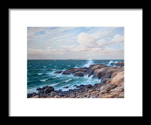 Thure Sundell Framed Print featuring the painting Coastal Landscape by MotionAge Designs