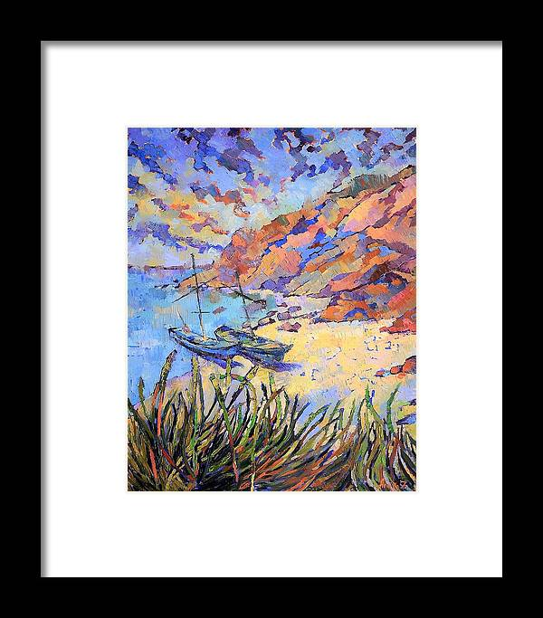Seascape Framed Print featuring the painting Coastal Light by Annika Zalmover
