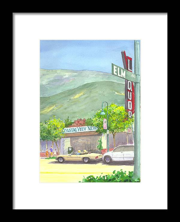 Coastal View Newspaper Olffice Framed Print featuring the painting Coastal View by Ray Cole