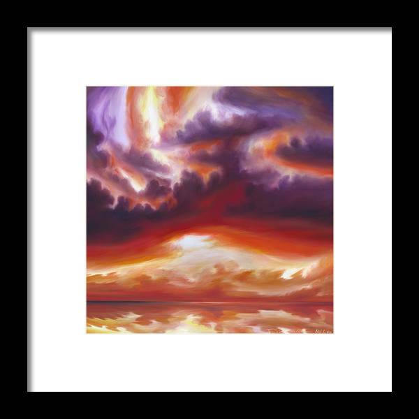 Skyscape Framed Print featuring the painting Coastline by James Christopher Hill