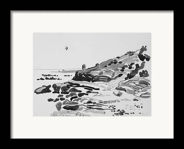 Coast Framed Print featuring the drawing Coastline Of The Spain by Vitali Komarov