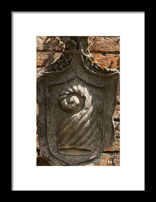 Venice Framed Print featuring the photograph Coat Of Arms On Torcello In Venice by Michael Henderson