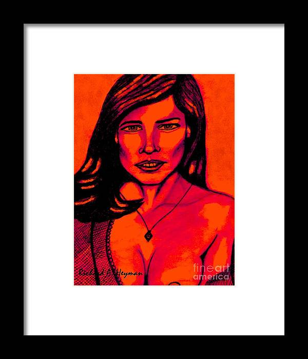 Sexy Framed Print featuring the drawing Cobey Exposed by Richard Heyman