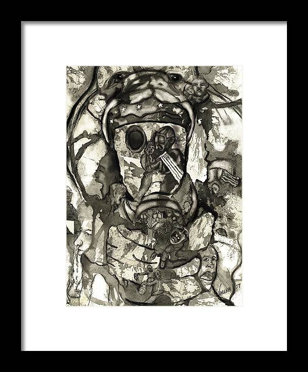 Military Framed Print featuring the drawing Cobra by Valera Ainsworth