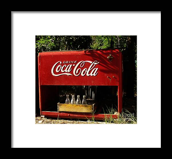 Coke Framed Print featuring the photograph Coca-Cola by Carol Milisen
