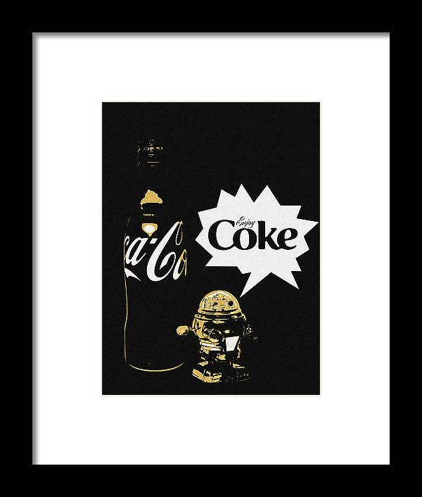 Framed Print featuring the photograph Coca-cola Forever Young 7 by James Sage