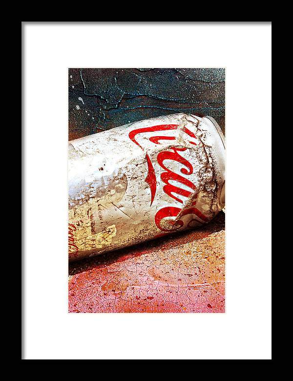 Coca Cola Framed Print featuring the photograph Coca Cola on the Rocks by Mike-Hope by Michael Hope