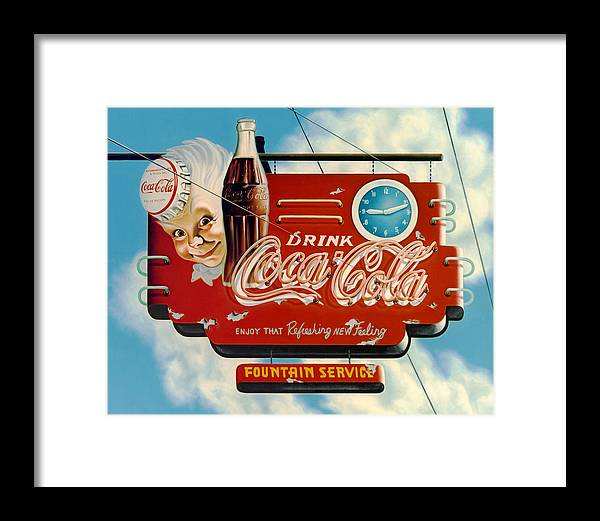 Coca Cola Framed Print featuring the painting Coca Cola by Van Cordle