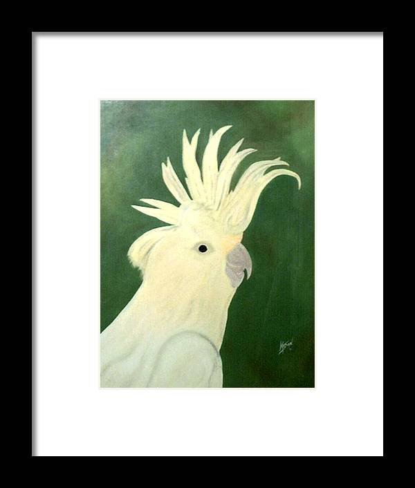 Bird Framed Print featuring the painting Cockatoo by Guillermo Mason