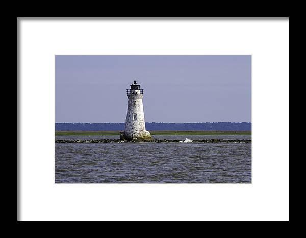 Cockspur Lighthouse Framed Print featuring the photograph Cockspur Lighthouse by Elizabeth Eldridge