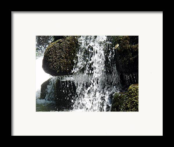 Water Framed Print featuring the photograph Cocktail Rock by Jessica Breen