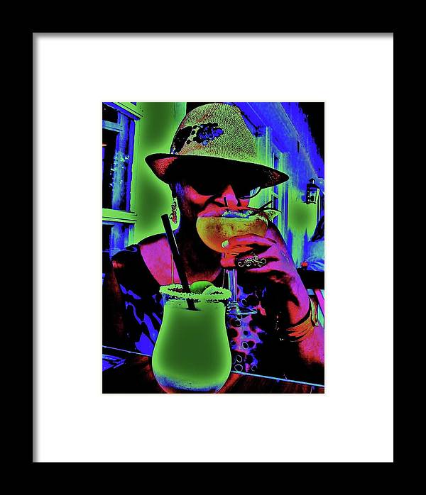 Cocktails Framed Print featuring the photograph Cocktails Anyone by Diana Dearen