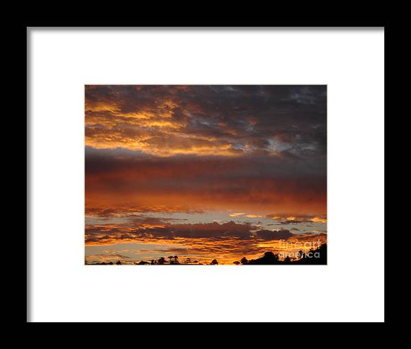 Sunset Framed Print featuring the photograph Coco Sky by Chad Natti