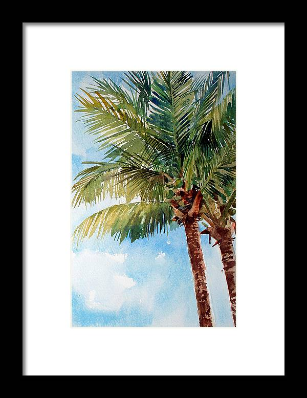 Coconut Palm Framed Print featuring the painting Coconut Palm by Peter Sit