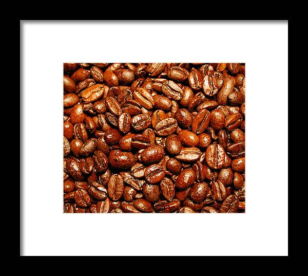 Coffee Framed Print featuring the photograph Coffee Beans by Nancy Mueller