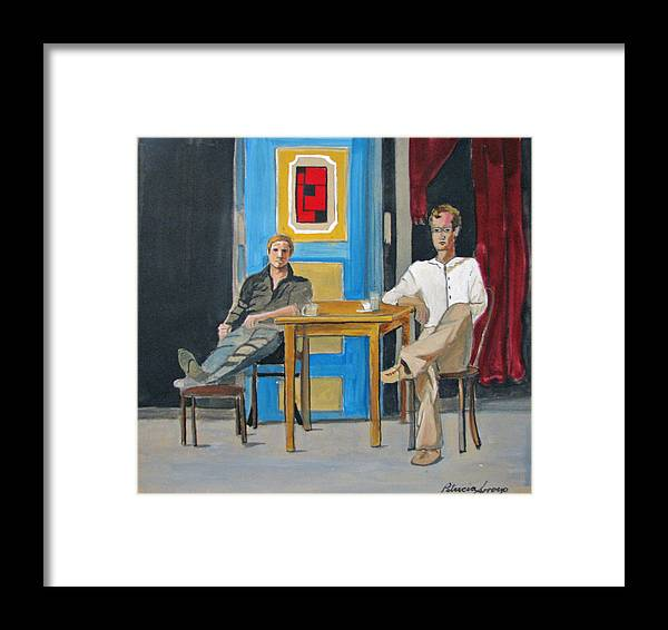 Portraits Framed Print featuring the painting Coffee In China Town by Patricia Arroyo
