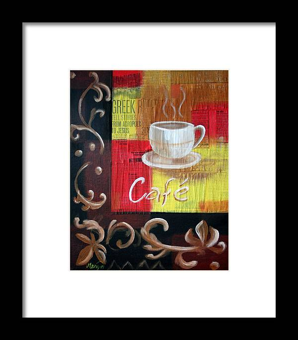 Coffee Framed Print featuring the painting Coffee by Maryn Crawford